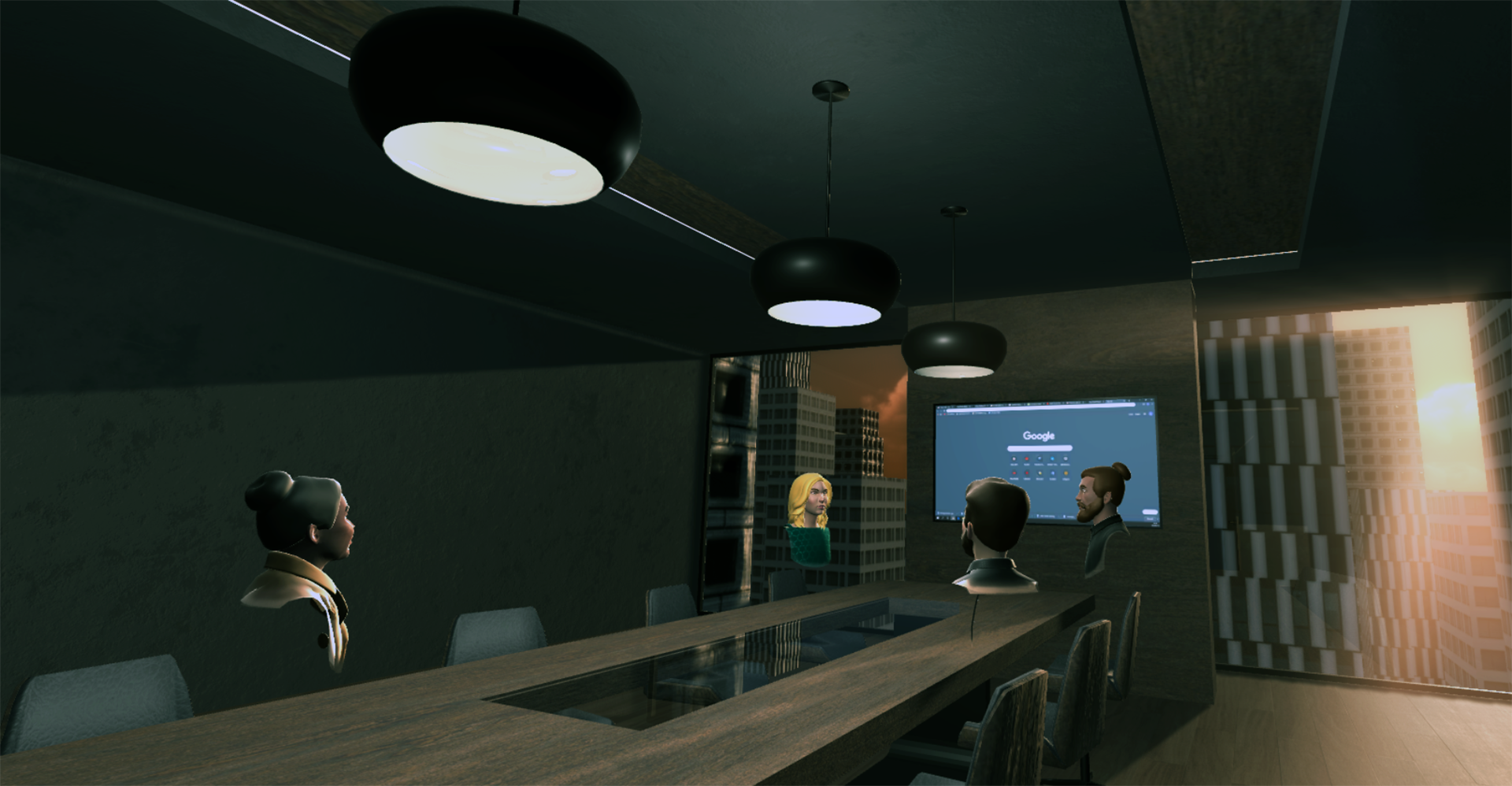 Boardroom Meetings in Virtual Reality